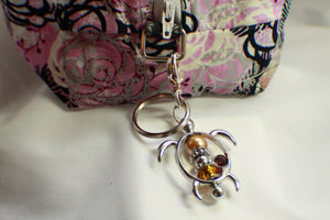 Cute Turtle Purse Charm, Bag Charm, Keychain - Green or Brown