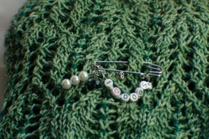 I Love Cats or I Love Dogs - Shawl Pin/Knitting Stitch Marker Sets