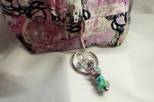Load image into Gallery viewer, Blue Beaded Purse Charm, Bag Charm, Keychain