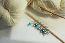 Load image into Gallery viewer, Rainy Days - Glass Pearl Knitting Stitch Markers
