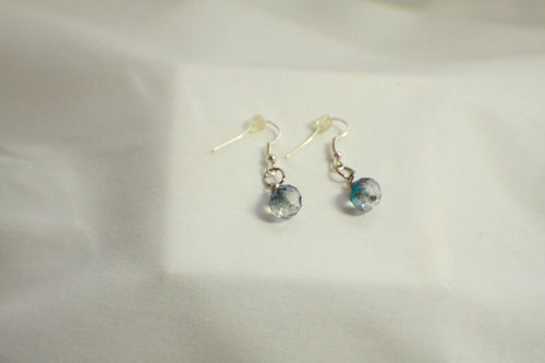 Smoky Grey Faceted Bead Earrings - Lightweight