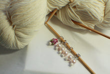 Load image into Gallery viewer, Ivory Glass Rose - Glass Pearl Knitting Stitch Markers