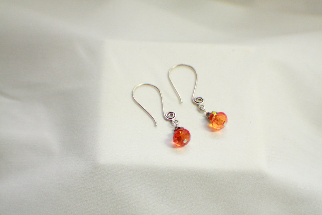 Pumpkin Beaded Earrings - Perfect for Fall, Halloween, or Thanksgiving