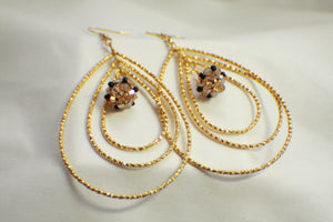 Teardrop Hoop Earrings - Gold Colored