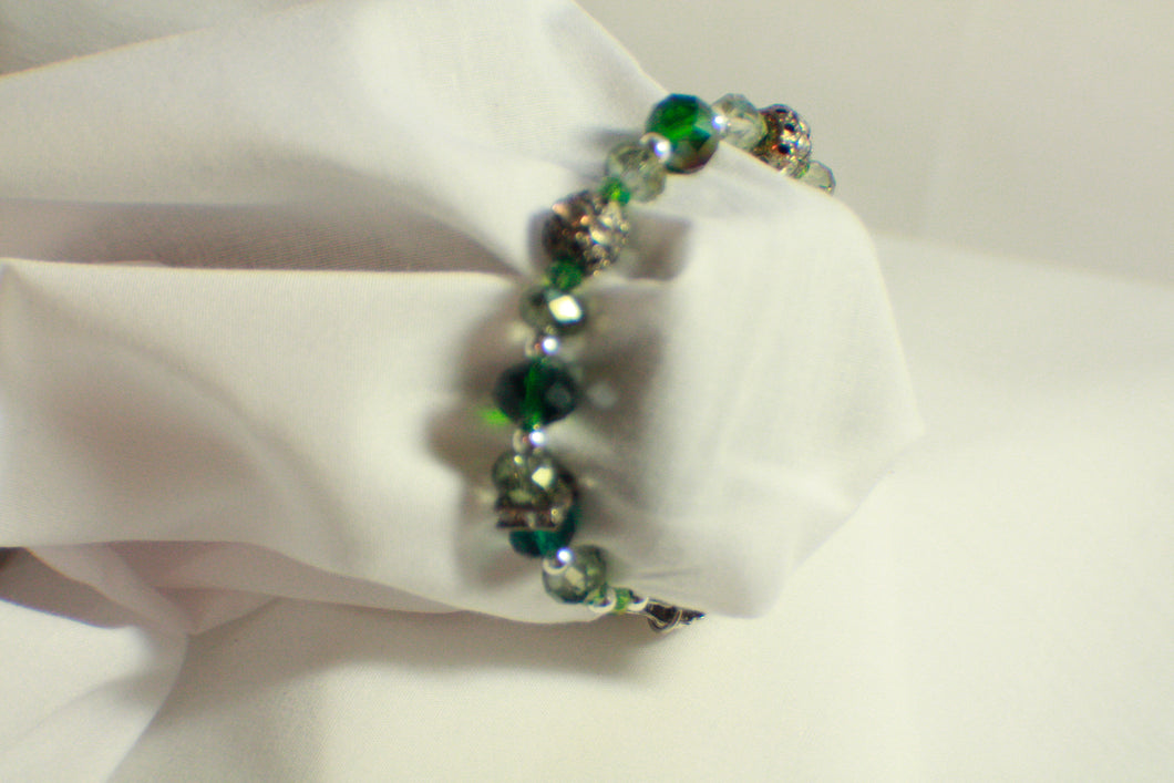 Summer Fresh Green Beaded Bracelet