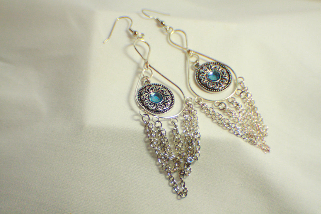 Sky Blue Dreamcatcher Earrings
