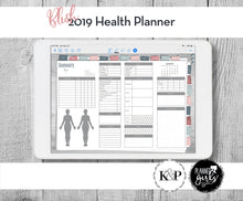 Load image into Gallery viewer, 2019 Digital Mental Health Journal, Blush, Spoonie Journal, Health Journal, Chronic Illness Planner, Mood Tracker, Anxiety Journal