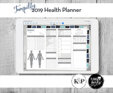 Load image into Gallery viewer, 2019 Digital Mental Health Journal, Tranquility, Spoonie Journal, Health Journal, Chronic Illness Planner, Mood Tracker, Anxiety Journal