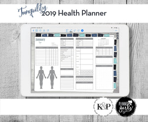 2019 Digital Mental Health Journal, Tranquility, Spoonie Journal, Health Journal, Chronic Illness Planner, Mood Tracker, Anxiety Journal