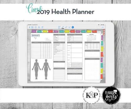 2019 Digital Mental Health Journal, Circus, Spoonie Journal, Health Journal, Chronic Illness Planner, Mood Tracker, Anxiety Journal