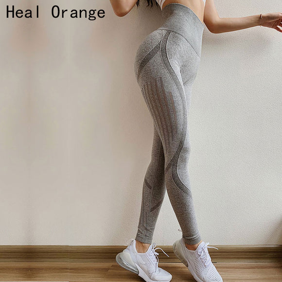 Yoga naadloze legging met hoge tailleband-Body Blessings