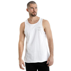 ACTIVEWEAR EMBLEM TANK TOP IN WHITE - sweetsweateurope