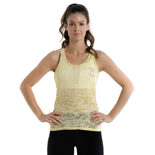 ACTIVEWEAR YELLOW BURN OUT TANK - sweetsweateurope