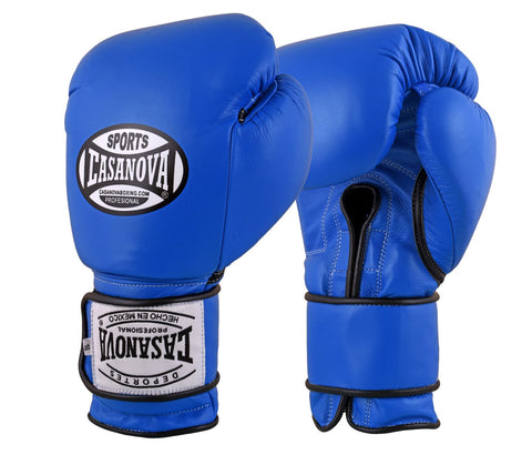 Casanova Boxing® Velcro Training Gloves - Blue