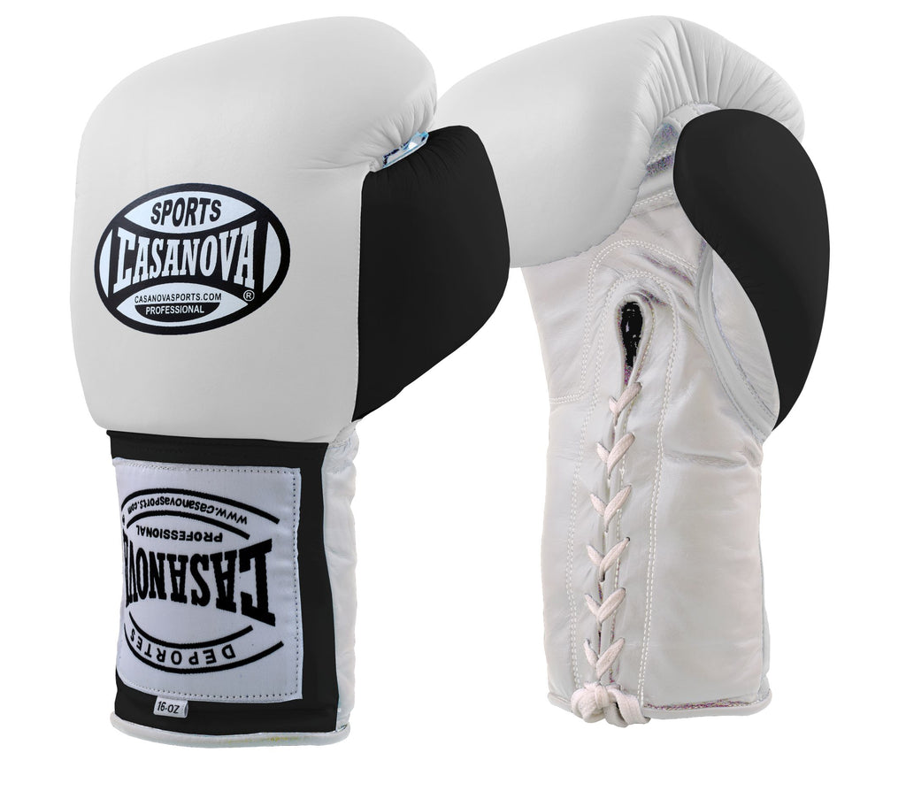 CASANOVA BOXING® LACE-UP TRAINING GLOVES RED