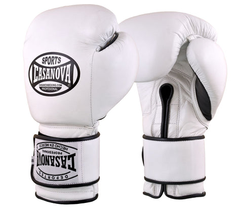 Casanova Boxing® Hook & Loop Training Gloves - White