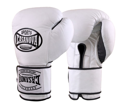 Casanova Boxing® Professional Velcro Training Fight Gloves - White