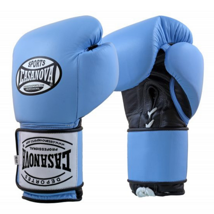 Casanova Hybrid Boxing Gloves with Lace-up L Blue