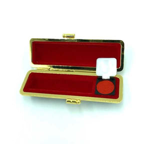 japanese hanko case with ink pad red