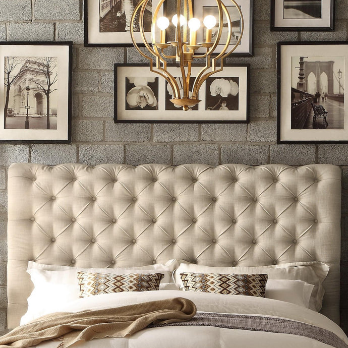 Kalia Queen Upholstered Panel Headboard