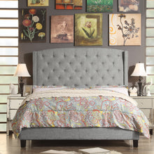 Load image into Gallery viewer, Millred Polyester Upholstered Wingback Panel Bed