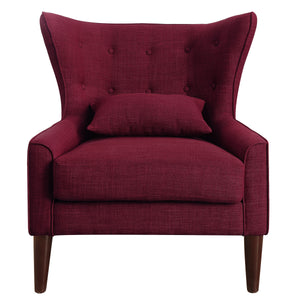 Kin Tufted Wingback Chair with Back Cushion