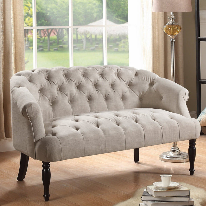 Harlow Chesterfield Tufted Settee Loveseat