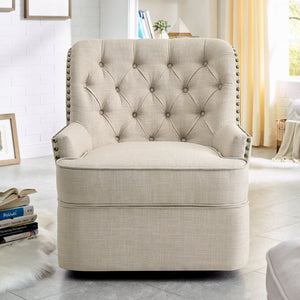 Gustava Swivel Wingback Chair