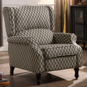 Sequoia Roll Arm Push Back Recliner Chair