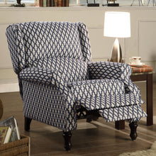 Load image into Gallery viewer, Sequoia Roll Arm Push Back Recliner Chair