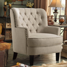 Load image into Gallery viewer, Gustavo Fabric Nailhead Club Chair, Contemporary Accent Chair
