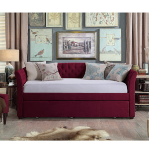 Celine Tufted Twin Size Daybed with Trundle