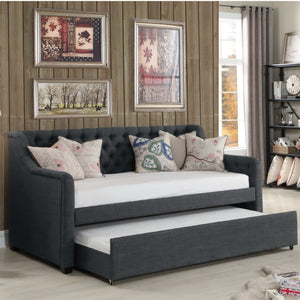 Celina Tufted Twin Size Daybed with Trundle