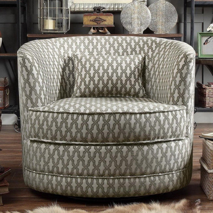 Claire Upholstered Swivel Accent Chair