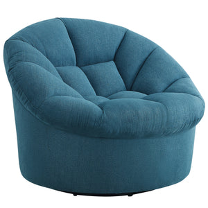 Veronica Upholstered Swivel Barrel Chair