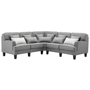Ashley 5 Piece Outdoor Sectional Seating with Cushions