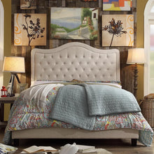 Load image into Gallery viewer, Woody Upholstered Panel Bed