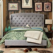 Load image into Gallery viewer, Shirley Upholstered Wingback Panel Bed