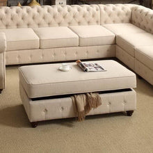 Load image into Gallery viewer, Berkeley Upholstered Storage Ottoman
