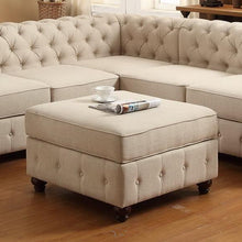 Load image into Gallery viewer, Berkeley Tufted Storage Ottoman