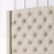 Load image into Gallery viewer, Marie Wingback Tufted High Headboard Upholstered Bed