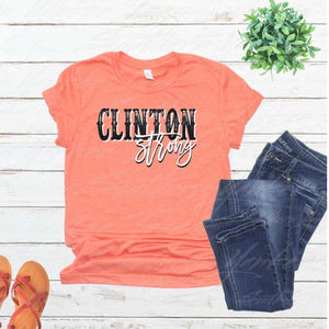 Clinton Strong - Faded - Orange