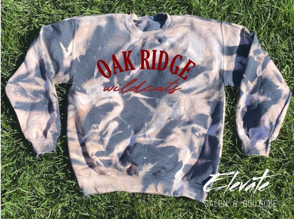 Oak Ridge Wildcats Bleached Sweatshirt