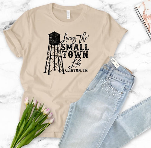 Loving the Small Town Life T-Shirt - Heather Tan