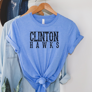 Clinton Hawks Tee - Blue