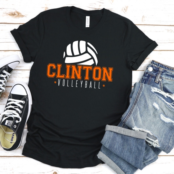 Clinton Volleyball Tee