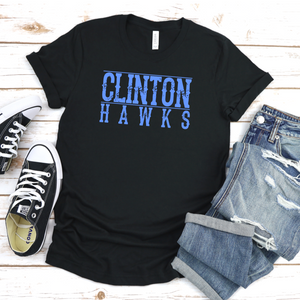 Clinton Hawks Tee - Black