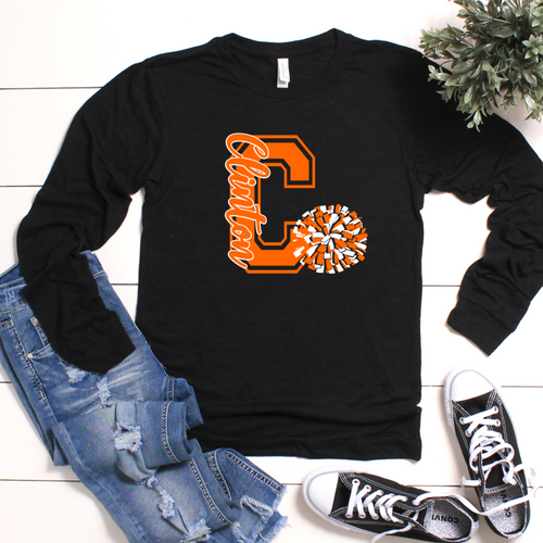 C Clinton Pom Pom Long-Sleeve T-Shirt