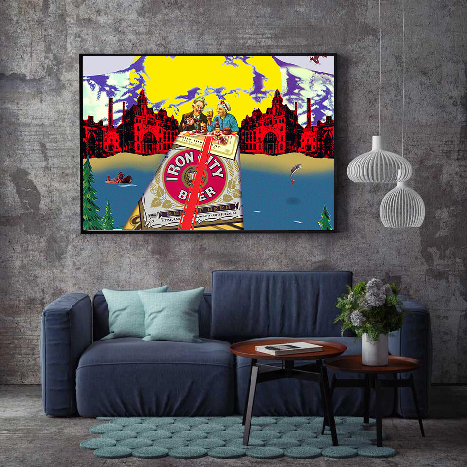 Canvas - A Bridge Too Far - (Craft Beer Artwork)
