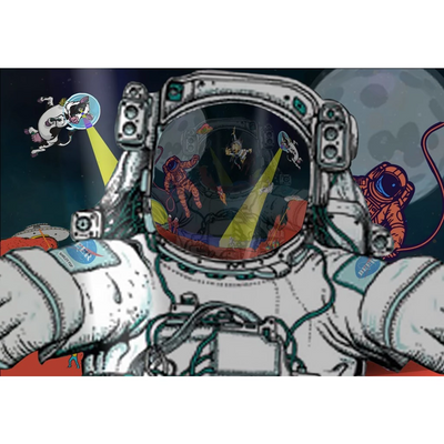 Sticker - Astronaut Selfie - (Craft Beer Artwork) - joestickel